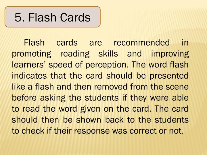 5. Flash Cards