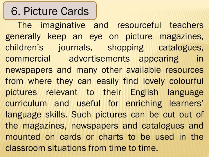 6. Picture Cards