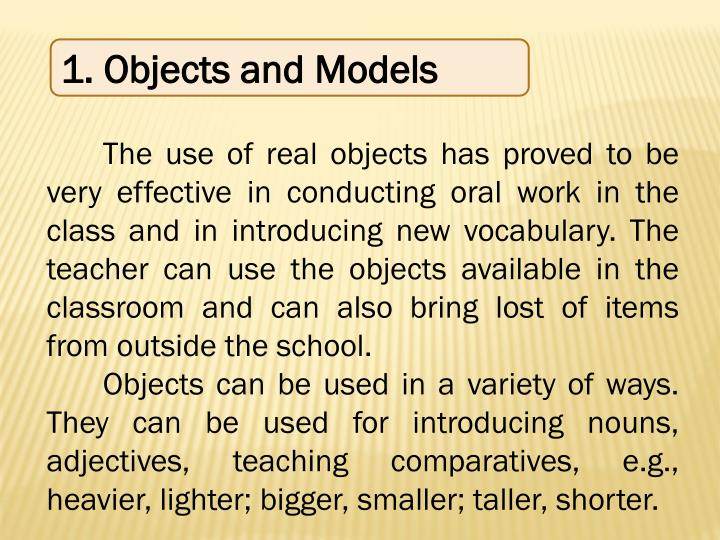 1. Objects and Models