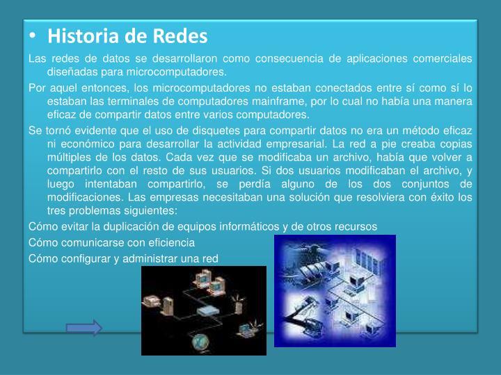Historia de Redes