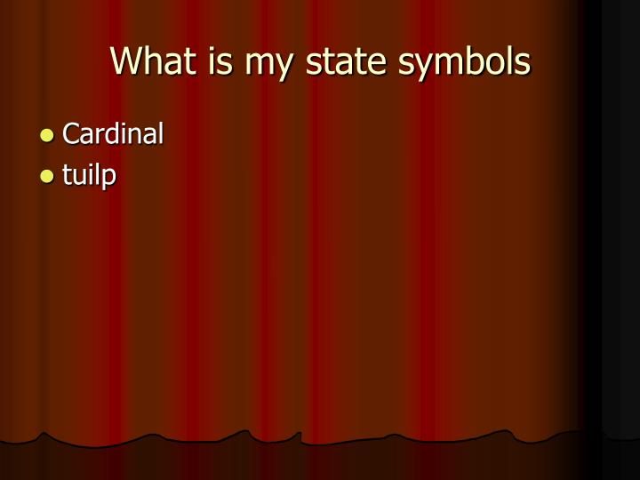 What is my state symbols