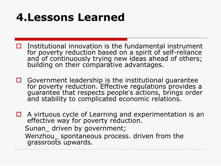 4.Lessons Learned