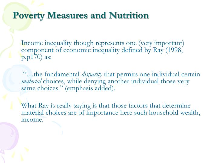 Poverty measures and nutrition2