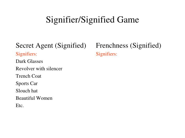 Secret Agent (Signified)