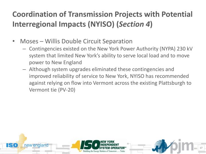 Coordination of Transmission Projects with Potential Interregional Impacts
