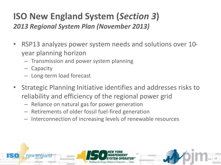 ISO New England System (