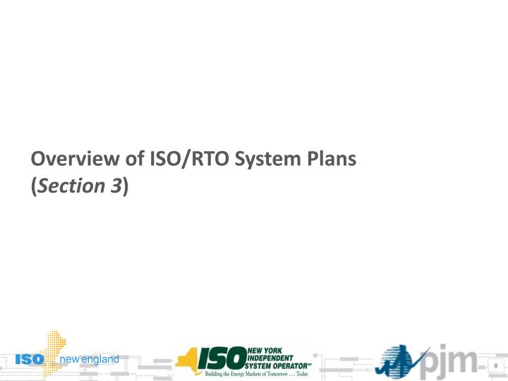 Overview of ISO/RTO System Plans