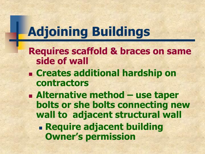 Adjoining Buildings
