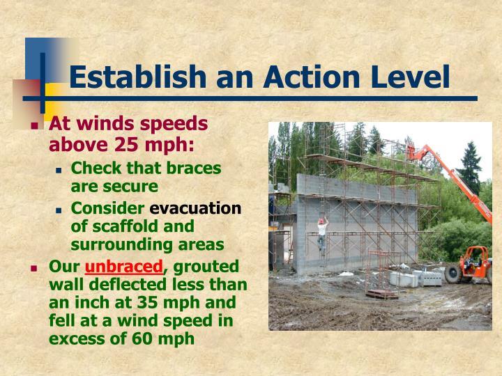 Establish an Action Level