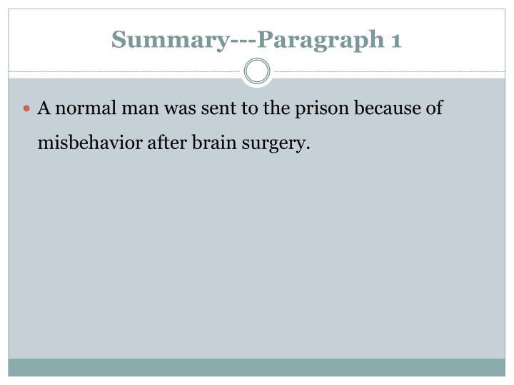 Summary---Paragraph 1