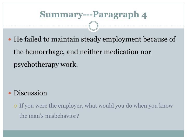Summary---Paragraph 4