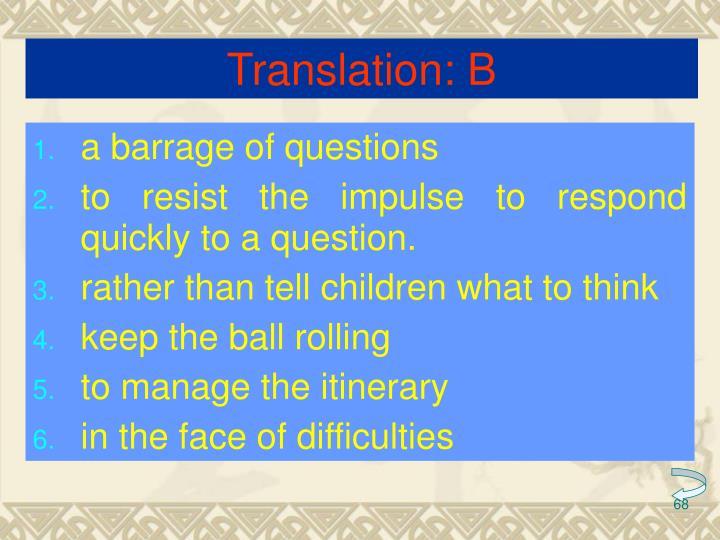 Translation: B