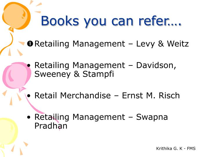 Books you can refer….