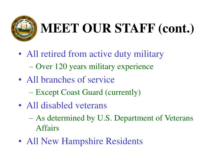 MEET OUR STAFF (cont.)