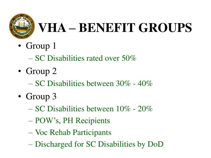 VHA – BENEFIT GROUPS
