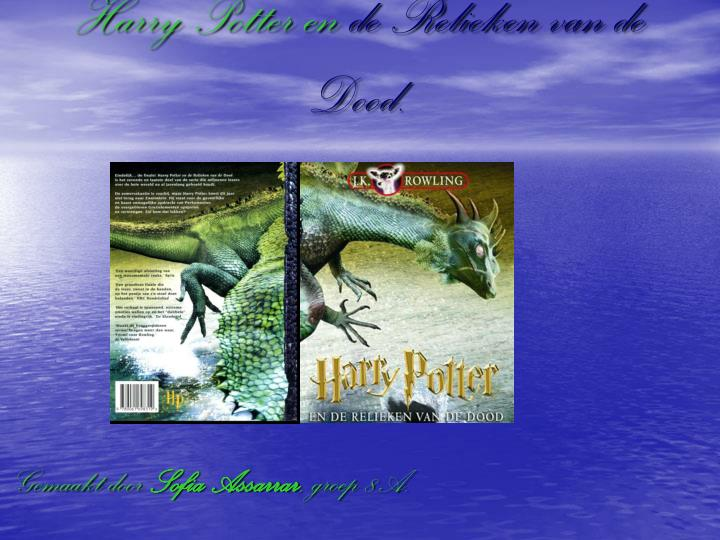 ppt harry potter en de relieken de dood powerpoint