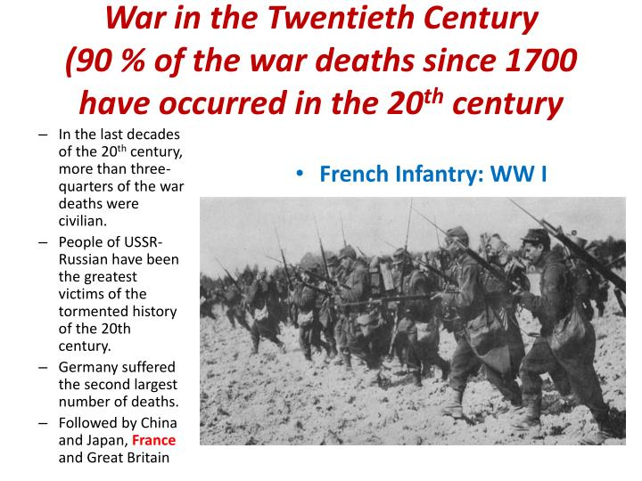 technology change war in the 20th century The 20th century was scarred by gulags, concentration camps, secret police, terrorism, genocide, and war technology helped make the 20th century the bloodiest in history world war i, which introduced the machine gun, the tank, and poison gas, killed 10 million (almost all were soldiers.