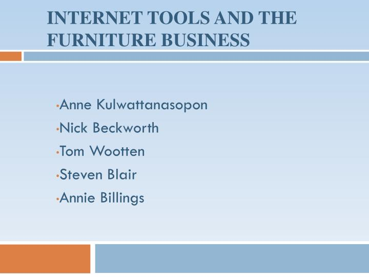internet tools and the furniture business n.