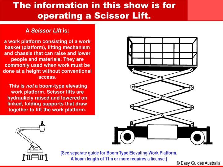 PPT - A Scissor Lift is: PowerPoint Presentation - ID:6894225