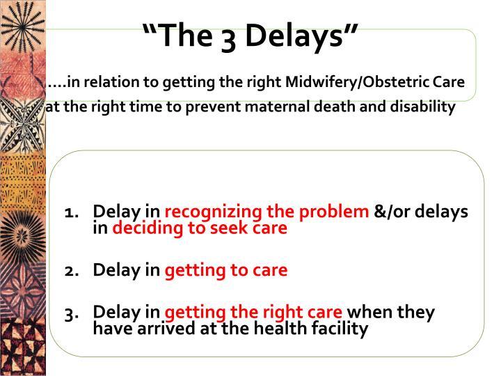 """""""The 3 Delays"""""""
