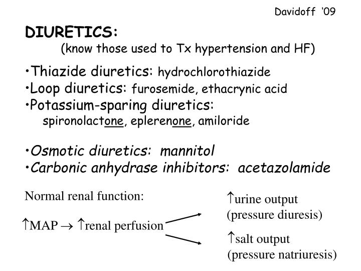 Normal renal function: