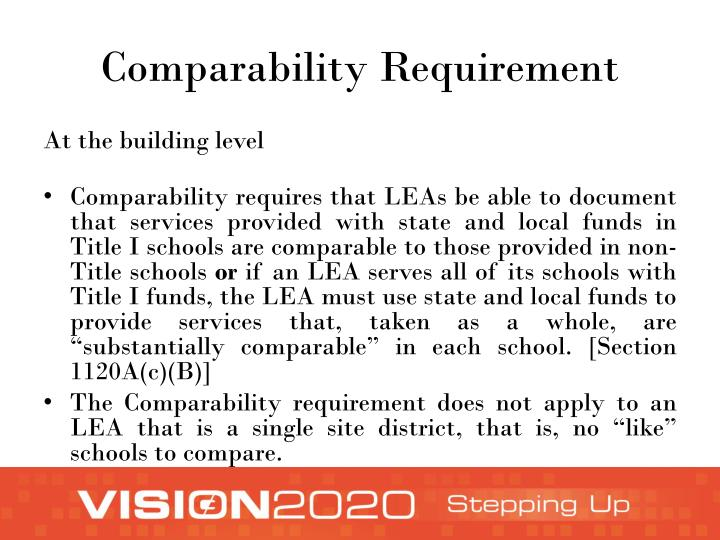 Comparability Requirement