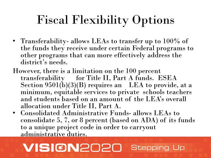 Fiscal Flexibility Options