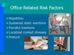 office related risk factors