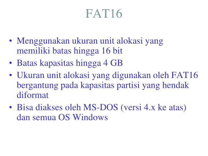 FAT16