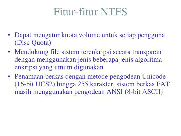Fitur-fitur NTFS