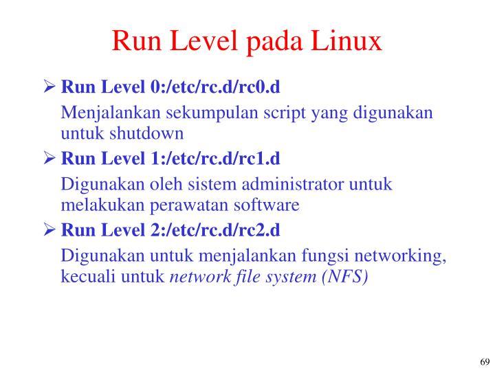 Run Level pada Linux