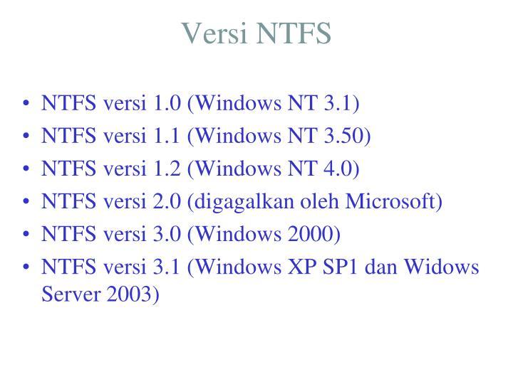 Versi NTFS