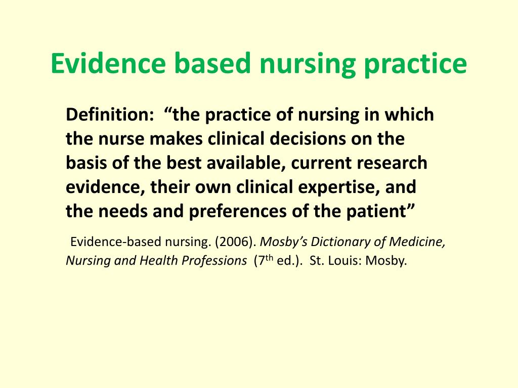 ppt - evidence based nursing practice powerpoint presentation - id
