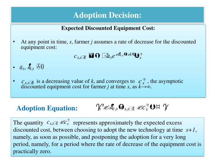 Adoption Decision:
