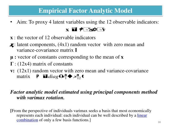 Empirical Factor Analytic Model