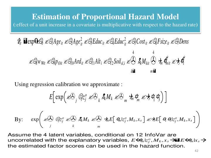 Estimation of Proportional Hazard Model