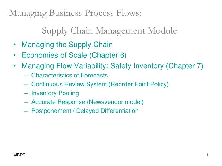 PPT - Managing Business Process Flows: Supply Chain Management
