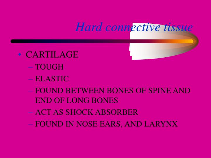 Hard connective tissue