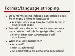 format language stripping