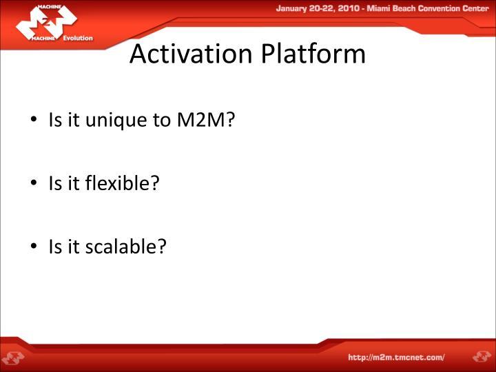Activation Platform