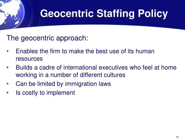 geocentric strategy