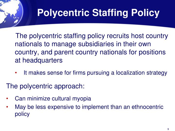 polycentric staffing policy