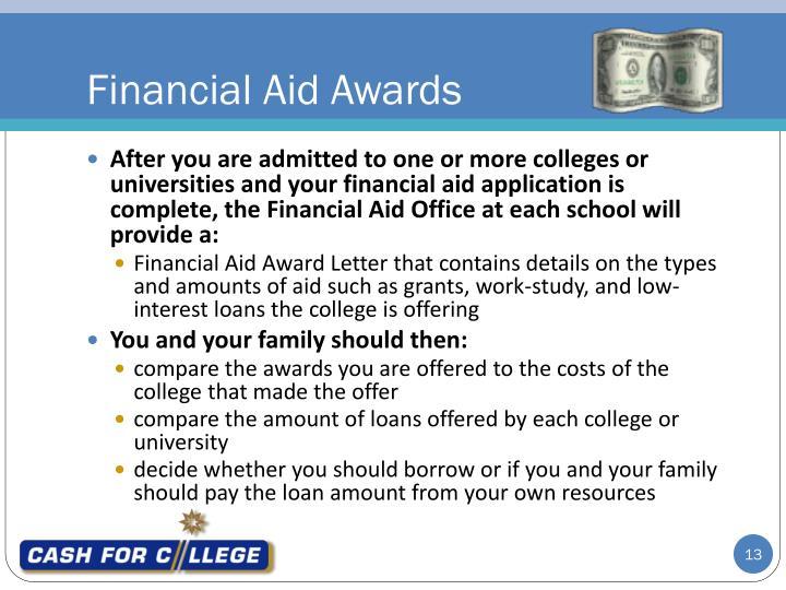 Financial Aid Awards