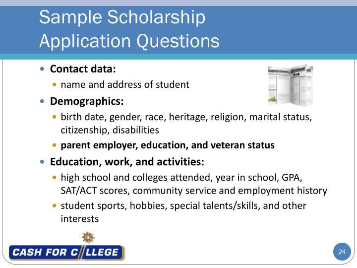 Sample Scholarship