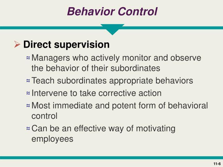Behavior Control