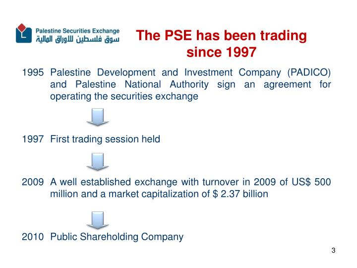 The pse has been trading since 1997