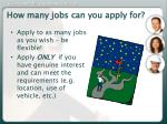 how many jobs can you apply for