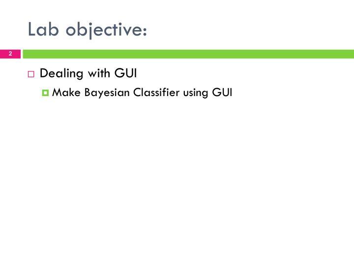 Lab objective
