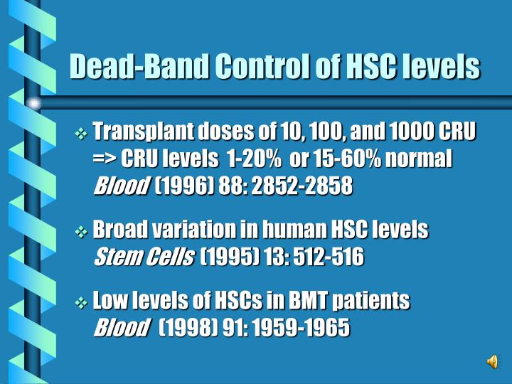 Dead-Band Control of HSC levels