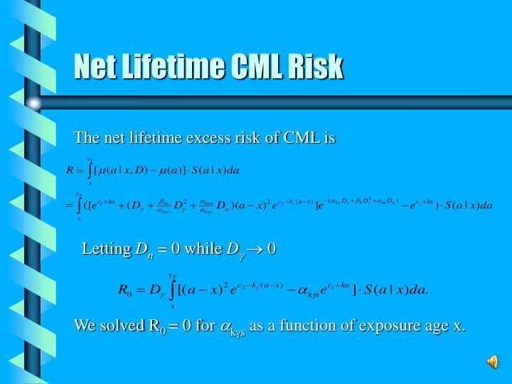 Net Lifetime CML Risk